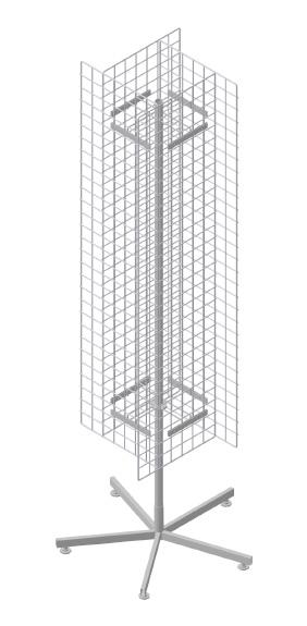 Вращающийся стенд с сетчатыми поверхностями